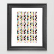 Ghosts Spots Framed Art Print
