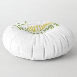 autumn blessings Floor Pillow