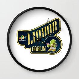Liquor Goblin Fantasy Bartender Mixologist T-Shirt Wall Clock