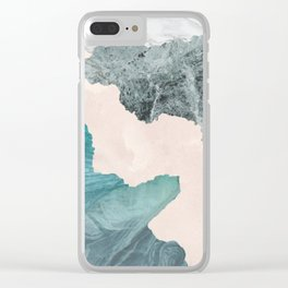 Flooded Marble Clear iPhone Case