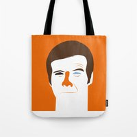 quibe Tote Bags featuring Steve Austin, the six millions dollars man by quibe