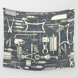 fiendish incisions metal Wall Tapestry