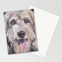 Golden Doodle Art,  Labradoodle art, Doodle dog art Stationery Cards