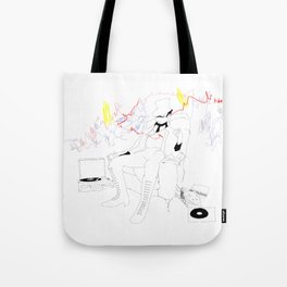 The Ringmaster and his Vinyl Tote Bag