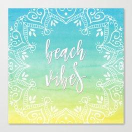 Boho Beach Vibes Canvas Print