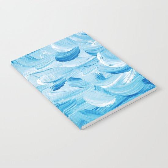 Aqua Abstract Notebook