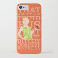 pushing daisies iPhone & iPod Cases featuring Pushing Daisies - Olive by MacGuffin Designs