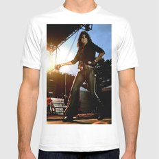 Alice Cooper Fence Stance White Mens Fitted Tee SMALL