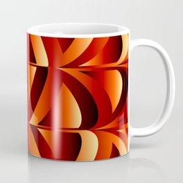 Waves and triangles in maroon Coffee Mug