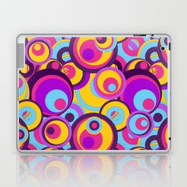 Retro Circles Groovy Colors Laptop & iPad Skin