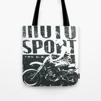 sport Tote Bags featuring Motor Sport by Tshirt-Factory