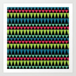 Neon Southwestern Pattern Art Print
