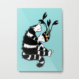 Weird Cat Character With Strange Paw Metal Print