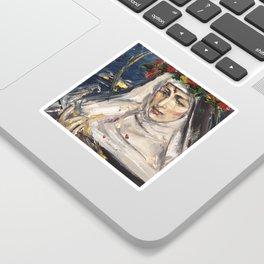 St. Rita of Cascia in penance Sticker