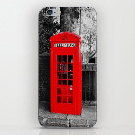 Red Telephone Box iPhone & iPod Skin