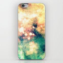 Carina Nebula Cream & Teal iPhone Skin