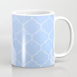 Blue Lattice Pattern Coffee Mug
