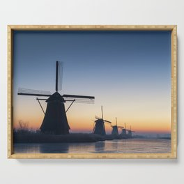 Windmills at Sunrise IV Serving Tray