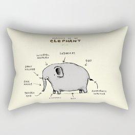 Anatomy of an Elephant Rectangular Pillow