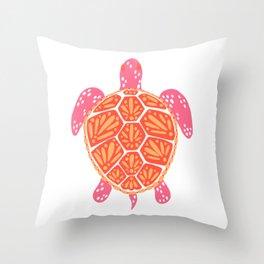 Sea Turtle – Melon Palette Throw Pillow