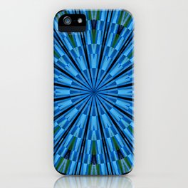 The blue-green mandala iPhone Case