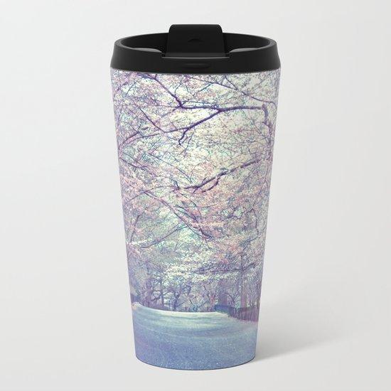 New York City Cherry Blossoms Path Metal Travel Mug