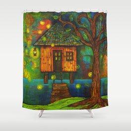 Little House on the Bayou  Shower Curtain