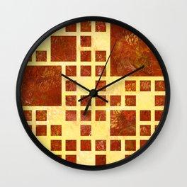 Nemissos V1 - painted squares Wall Clock