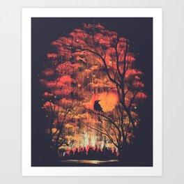 Burning In The Skies Art Print