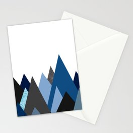 Classic Blue Mountains geometric Stationery Cards