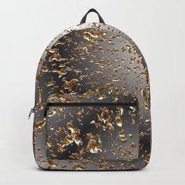 Golden Rain Black-Grey Round Backpack