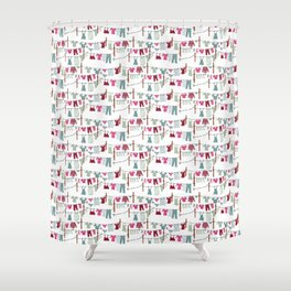 clothes line Shower Curtain