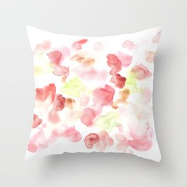 170722 Colour Living 17  |Modern Watercolor Art | Abstract Watercolors Throw Pillow