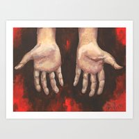 Humble Hands Art Print