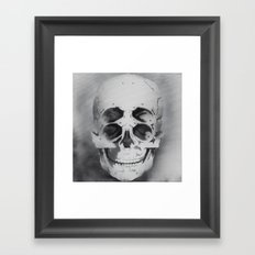the 4i skull stencil art 1 Framed Art Print