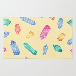 Crystals pattern - Yellow Rug