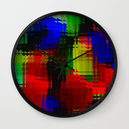 Square glass  4 Wall Clock