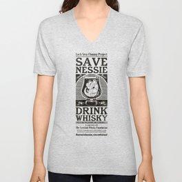 Save Nessie, Drink Whisky! Unisex V-Neck