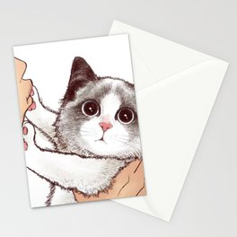 Cat : Don't kiss Stationery Cards