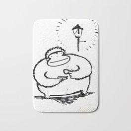 Enormous Ape Drinks Tiny Cup of Tea Bath Mat