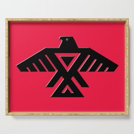 Thunderbird flag - on Red Serving Tray