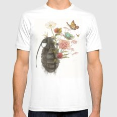 Containability to Sustainability  White Mens Fitted Tee MEDIUM