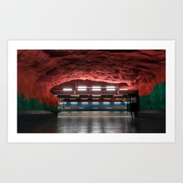 Solna Centrum Metro Station in Stockholm, Sweden V Art Print