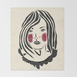 Paper Cut - Woman No. 3 Throw Blanket