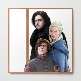The Wolf, the Dragon, and the Lion Metal Print