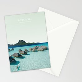 Bora Bora, French Polynesia Travel Artwork Stationery Cards