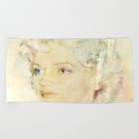Portrait of an icon Beach Towel
