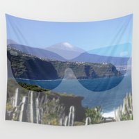 sunglasses Wall Tapestries featuring sunglasses, teneriffa by MehrFarbeimLeben