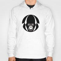 gorilla Hoodies featuring Gorilla by Alvaro Tapia Hidalgo