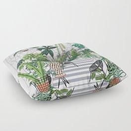 greenhouse illustration Floor Pillow